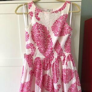 Tori Richards Pink Paisley Dress